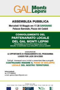 locandina-gavignano-GAL Monti Lepini